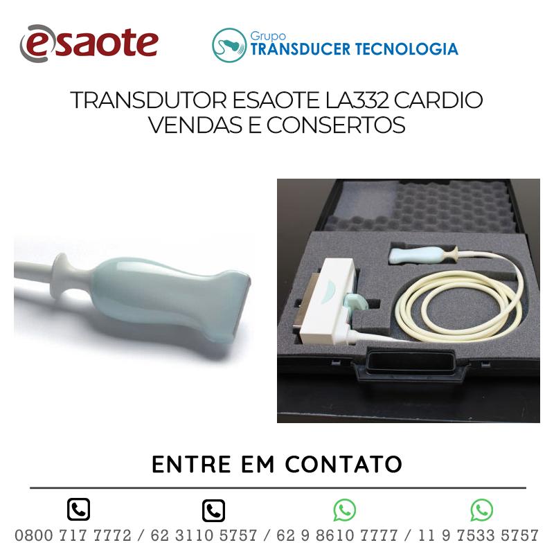 TRANSDUTOR ESAOTE LA332 CARDIO VENDAS E CONSERTOS