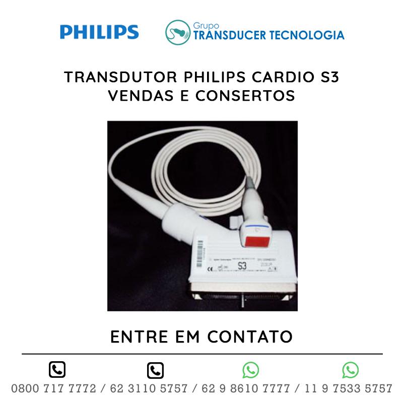 TRANSDUTOR PHILIPS CARDIO S3 VENDAS E CONSERTOS