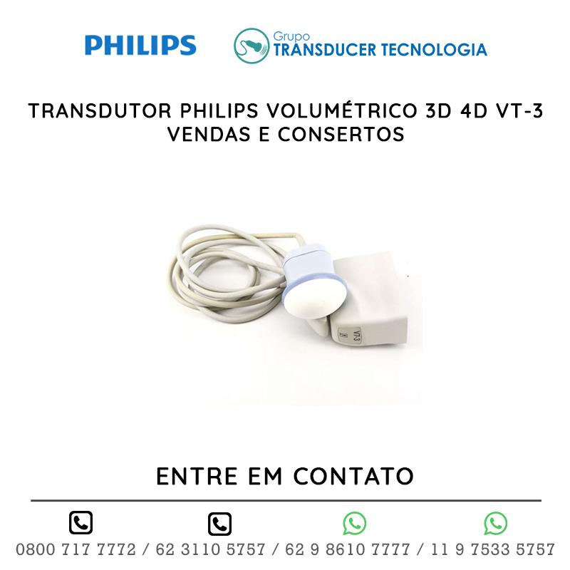 TRANSDUTOR PHILIPS VOLUMÉTRICO 3D 4D VT 3 VENDAS E CONSERTOS